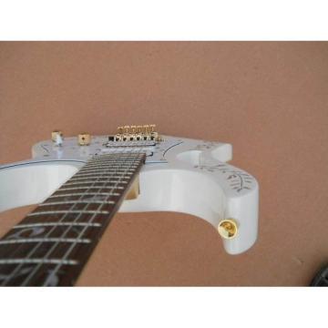 Custom Jem 7v Steve Vai White Floyd Rose Electric Guitar
