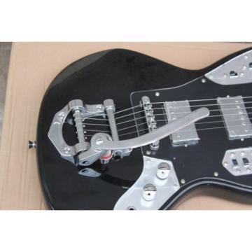 Custom Jaguar Black 6 String Tremolo Electric Guitar