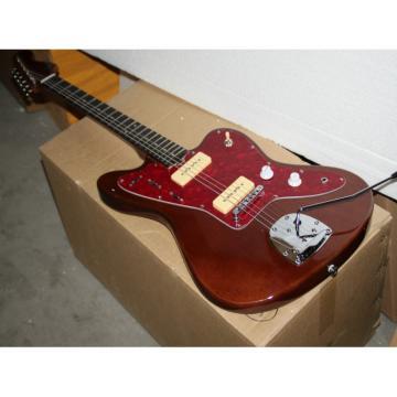 Custom Fender Jaguar Brown Electric Guitar