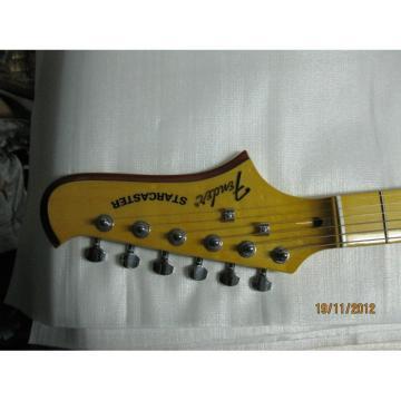 Custom Fender Starcaster Yellow Electric Guitar