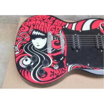 Custom Emily the Strange SG 6 String Electric Guitar Epi Style