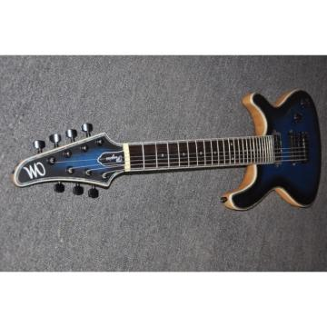 Custom Built Mayones Regius 7 String Electric Guitar Tiger Blue Maple Top