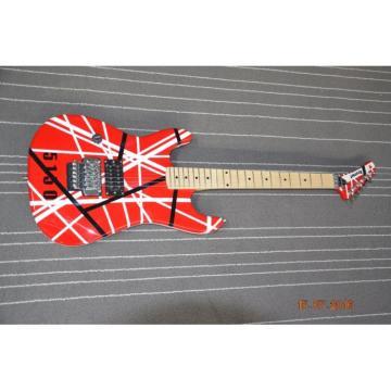 Custom Built EVH 5150 Red White Black Stripe Kramer Electric Guitar