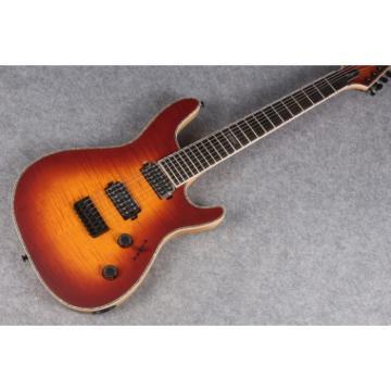 Custom Built Mayones Regius 7 String Electric Guitar Iced Burst