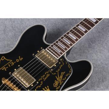 Custom Built BB King Lucille Signature ES335 Black Electric Guitar