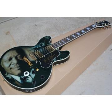 Custom BB King Lucille Printed Black Electric Guitar