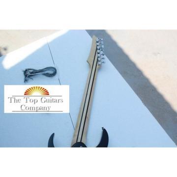 Custom 7 Strings Ibanez Jet Black Jem Electric Guitar