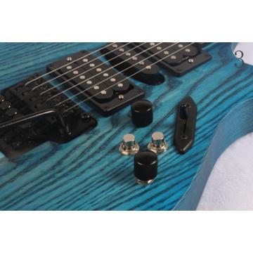 Custom 6 Strings Blazer Trans Blue Grain Finish Electric Guitar