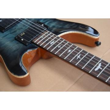 Custom 24 Paul Reed Smith Gray Burst Flame Maple Top Electric Guitar