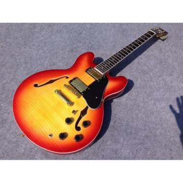 Custom 1960 ES 335 Cherry Sunburst Tiger Maple Jazz Electric guitar