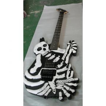 Custom  ESP Black Carved Skull Electric Guitar