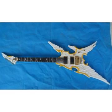 Custom  Shop ESP Angel White Electric Guitar Carvings