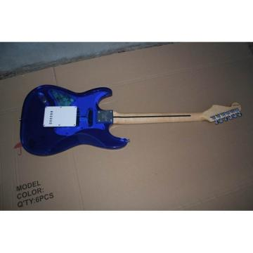 Crystal Blue Acrylic Stratocaster Electric Guitar