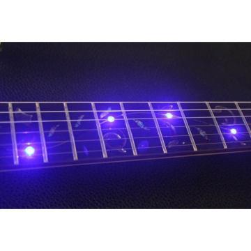 Crystal Ibanez Blue Led Light Acrylic Plexiglass Electric Guitar