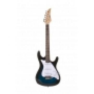 39 Inch Blue Sunburst Electric Guitar With Strap