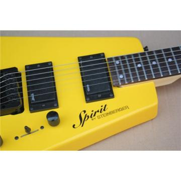 Custom Shop Yellow Monaco Steinberger Headless Electric Guitar