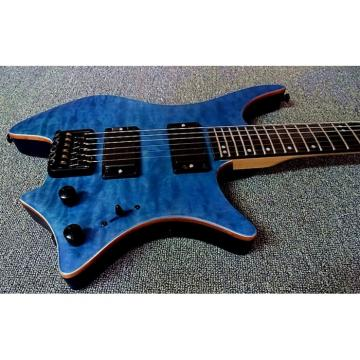Custom Shop Steinberger Blue Maple Top Headless Electric Guitar