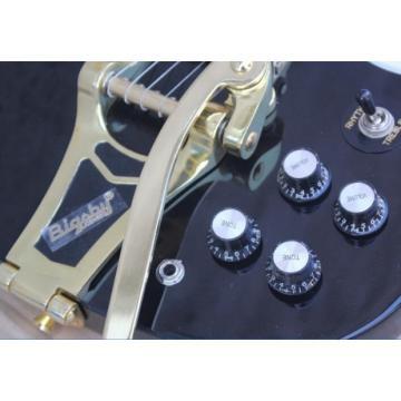 Custom Shop SG Black Electric Guitar Bigsby Tremolo