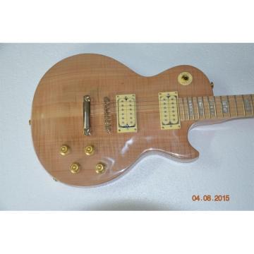Custom Shop Natural Solid Tiger Maple Fretboard Standard  LP Electric Guitar