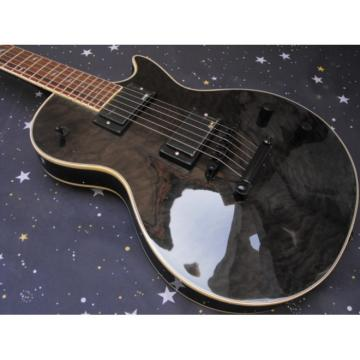 Custom Shop Quilted Maple Top Black Gray Epi LP Electric Guitar