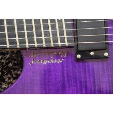 Custom Shop Fanned Frets Steinberger Purple Headless Electric Guitar