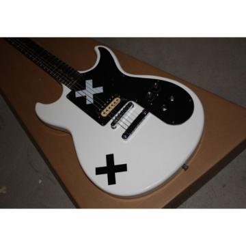 Custom Shop Double Cutaway White X Black White Electric Guitar
