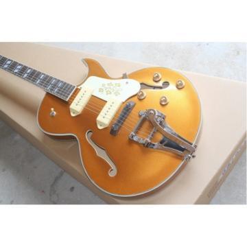 Custom Shop ES-125 Archtop P90 Goldtop Electric Guitar Bigsby Tremolo
