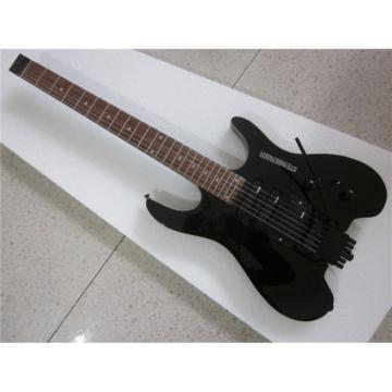 Custom Shop Black Steinberger No Headstock Electric Guitar