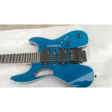 Custom Shop Black Steinberger Headless Electric Guitar Roman Number Inlays