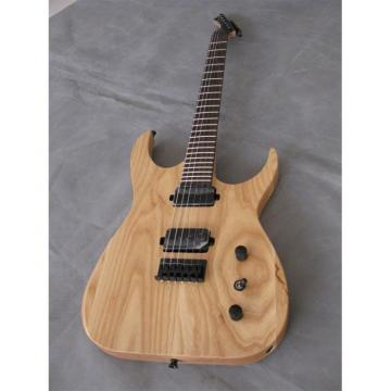 Custom Shop Black Machine 6 String Natural Wood Electric Guitar