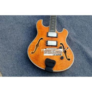 Custom Shop Amber Honey Languedoc Electric Guitar With Bracing Inside