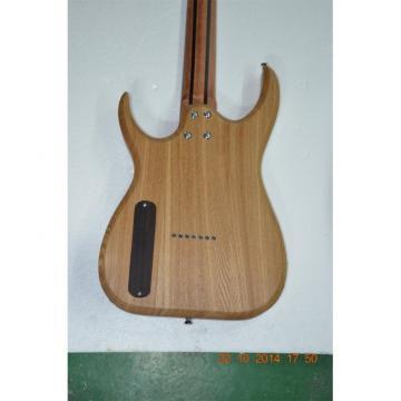 Custom Shop 7 String Transparent Blue Birds Eye Black Machine Electric Guitar