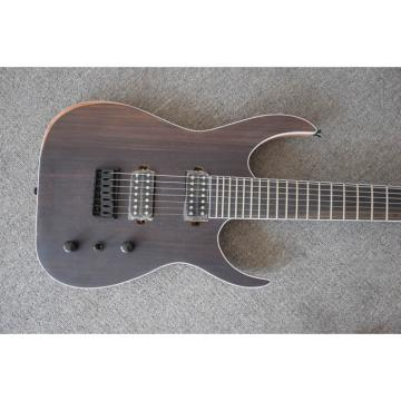 Custom Shop 7 String Rosewood Body and Neck Electric Guitar Black Machine