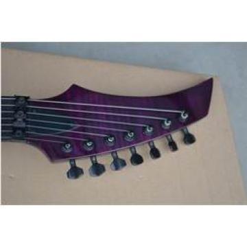Custom Shop 7 String Purple Flame Maple Top Electric Guitar