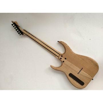 Custom Shop 7 String Birds Eye Electric Guitar  BlackMachine