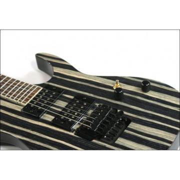 Custom Shop 6 String Stripe Natural Wood Electric Guitar