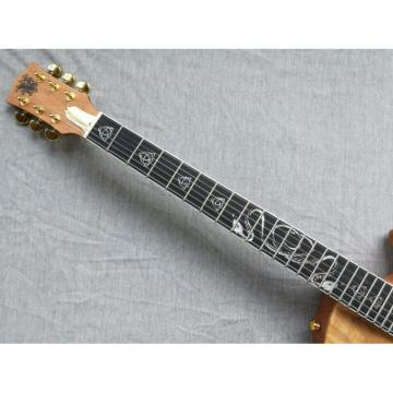 Custom Shop 6 String Dragon Carved Peach Core Electric Guitar Carvings