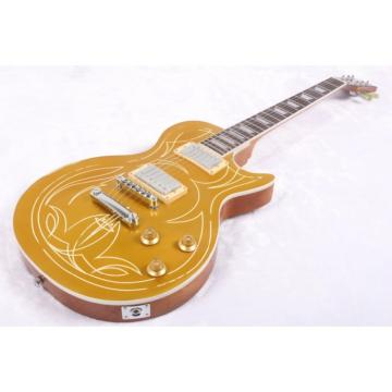 Custom Shop 6 String Gold Top Billy LP Electric Guitar