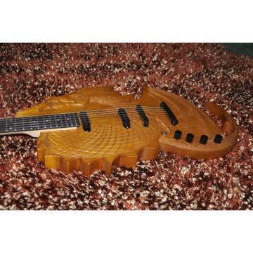 Custom Shop 6 String Dragon Ash Natural Electric Guitar Carvings
