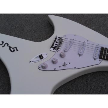 Custom Shop 6 String Dragon Ghost  White Electric Guitar