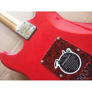 Custom Jimmie Vaughan Stratocaster Red Electric Guitar