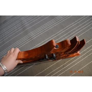 Custom Handmade 6 String Carved Dragon Electric Guitar