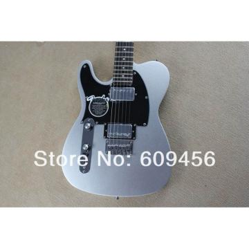 Custom Fender Left Handed Slick Silver Telecaster Blacktop Electric Guitar