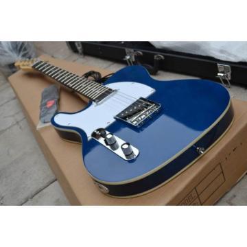 Custom Fender Left Handed Telecaster Blue Electric Guitar Bigsby Tremolo Option