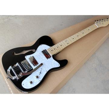 Custom Fender F Hole Black Bigsby Tremolo Telecaster Electric Guitar
