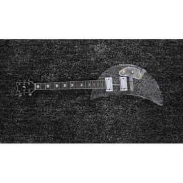 Custom Built Kawai Moonsalut Electric Guitar Black Real Abalone