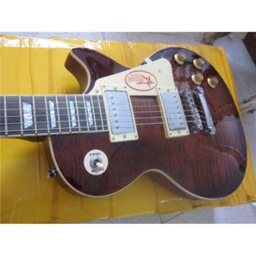 Custom Built Dark Brown Maple Top Standard  LP Electric Guitar