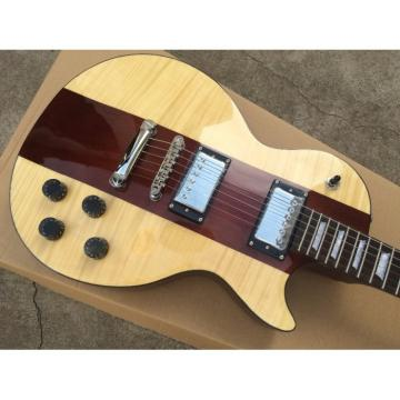 Custom Built Cream Brown Tiger Maple Top LP 6 String Electric Guitar Spotlight Special