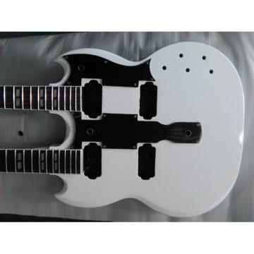 Custom Unfinished Don Felder EDS 1275 SG Double Neck Arctic White With Pickguard Guitar