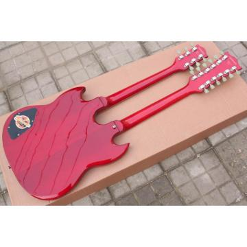 Custom Shop Don Felder SG Red EDS 1275 Double Neck Electric Guitar